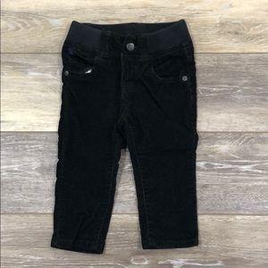 BabyGap Pull On corduroy black pants 12-18M